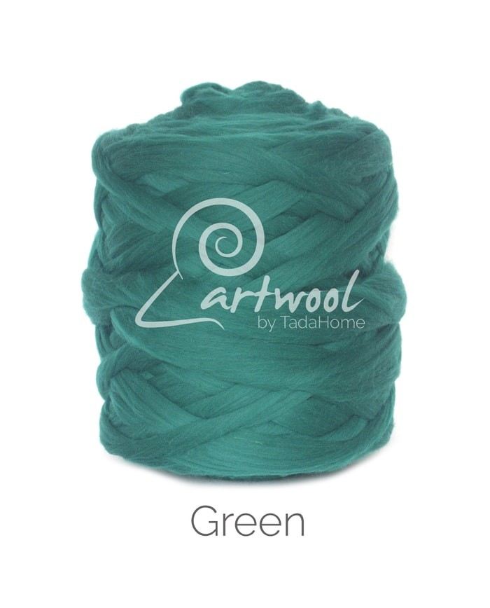 Green - 1 kg 100% Merino Wool Giant Chunky Yarn Arm Knitting