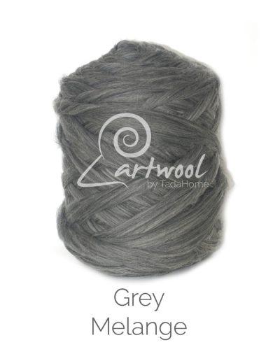Grey Melange - 1 kg 100% Merino Wool Giant Chunky Yarn Arm Knitting