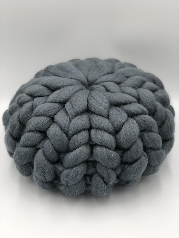 Grey Merino Wool Cushion