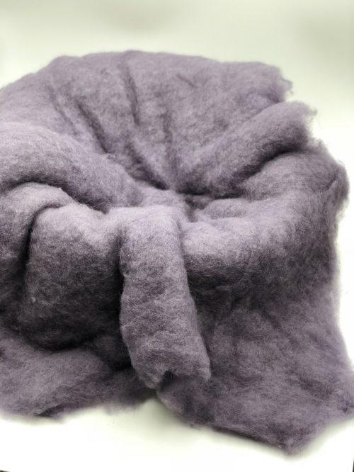 Powder Purple Merino Wool Fluff Basket Blanket