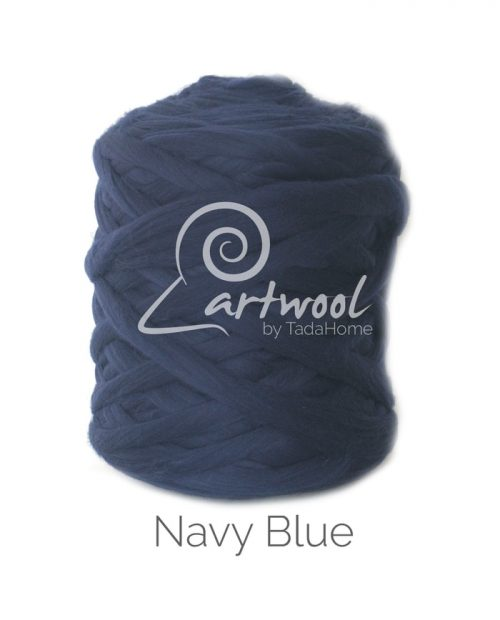Navy Blue - 1 kg 100% Merino Wool Giant Chunky Yarn Arm Knitting