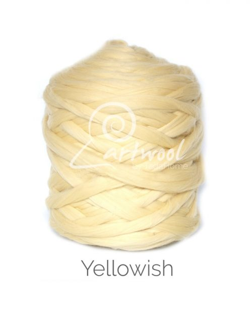 Yellowish - 1 kg 100% Merino Wool Giant Chunky Yarn Arm Knitting