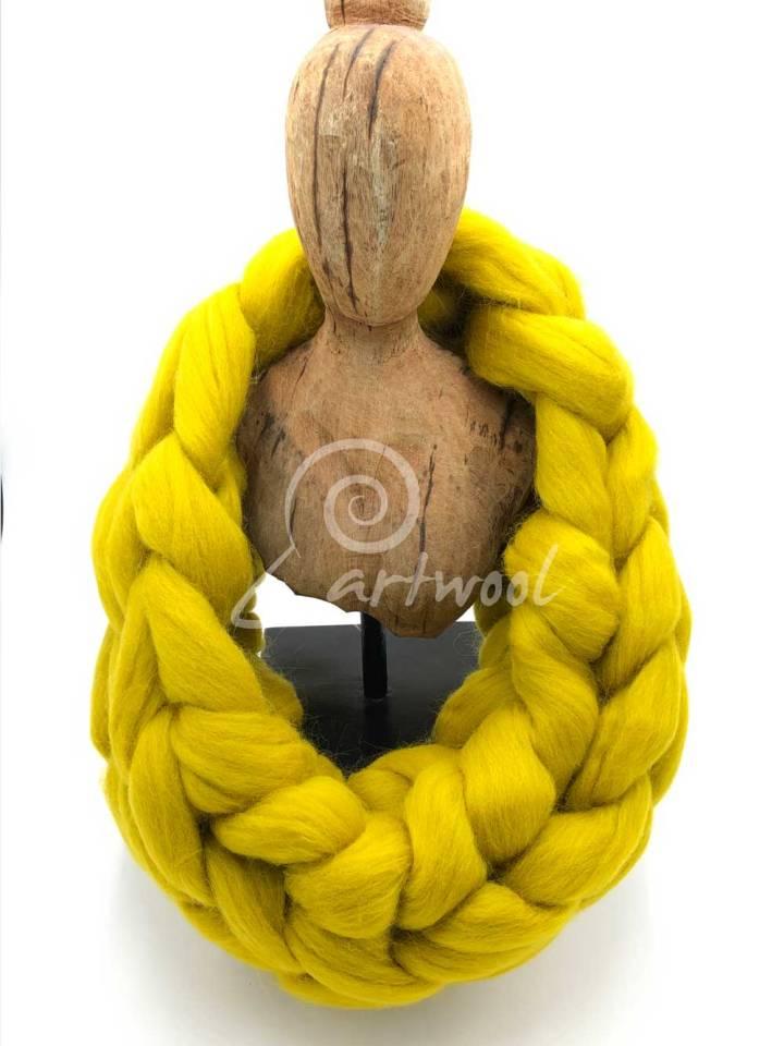 Mustard / Yellow Merino Wool Chunky Infinity Scarf