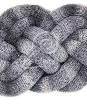 Large Knot Cushion in Grey Melange Colour with natural wool filling