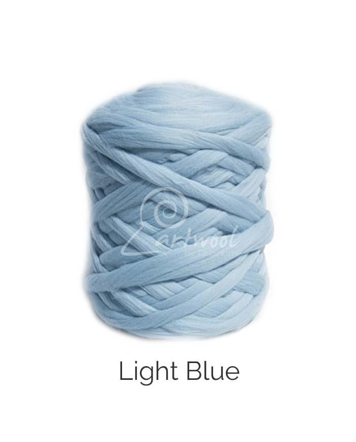 Light Blue 100% Merino Yarn Wool Giant Chunky Extreme Big Arm Knitting 1 kg