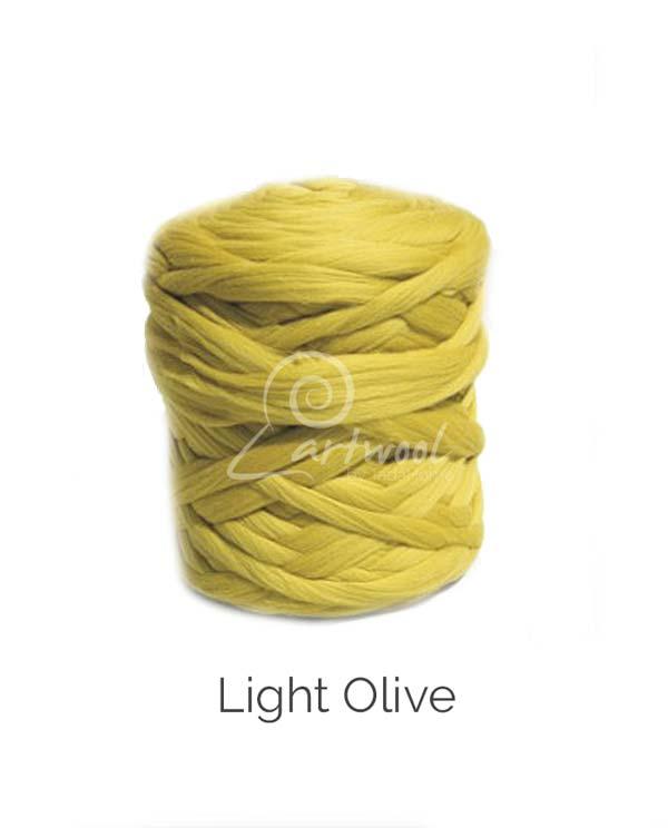 Light Olive 100% Merino Yarn Wool Giant Chunky Extreme Big Arm Knitting 1 kg