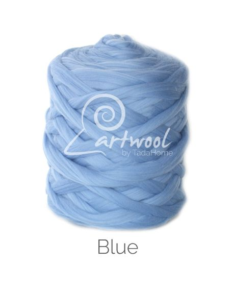Blue 100% Merino Yarn Wool Giant Chunky Extreme Big Arm Knitting 1 kg