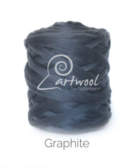 Graphite 100% Merino Yarn Wool Giant Chunky Extreme Big Arm Knitting 1 kg