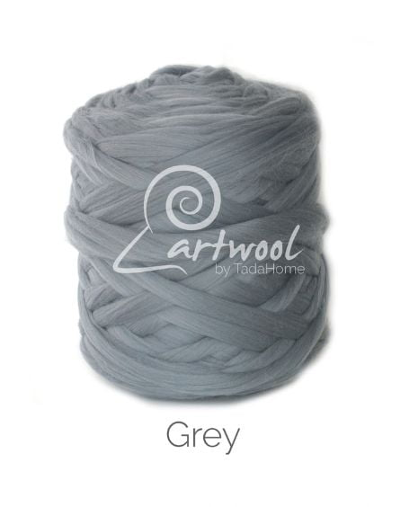 Grey 100% Merino Yarn Wool Giant Chunky Extreme Big Arm Knitting 1 kg