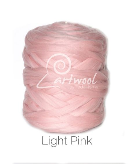 Light Pink 100% Merino Yarn Wool Giant Chunky Extreme Big Arm Knitting 1 kg