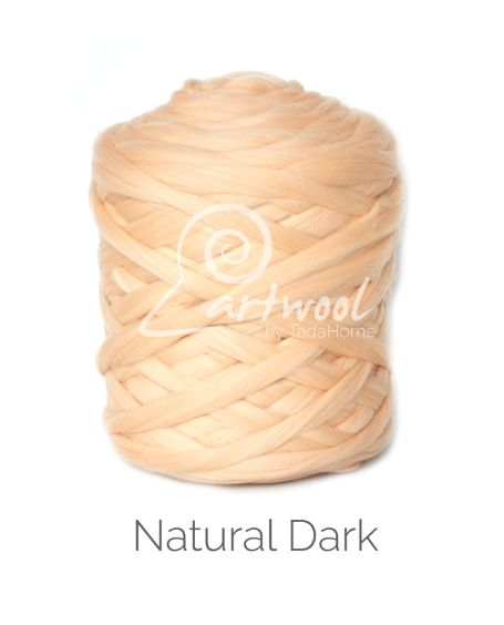Natural Dark / Flesh 100% Merino Yarn Wool Giant Chunky Extreme Big Arm Knitting 1 kg