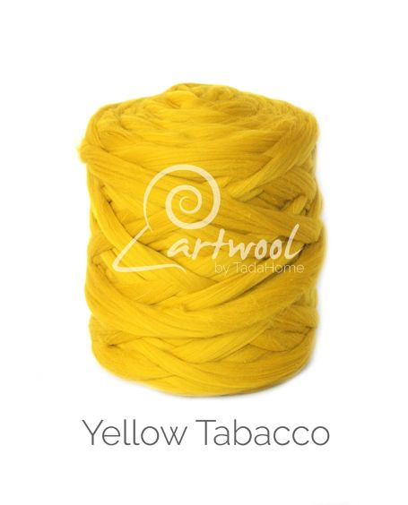Mustard / Yellow Tobacco 100% Merino Yarn Wool Giant Chunky Extreme Big Arm Knitting 1 kg