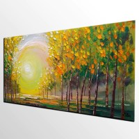 Oil Painting, Living Room Wall Art, Landscape Painting