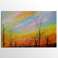 Art Painting, Original Painting, Colorful Sky Painting