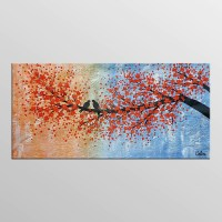 Abstract Art, Love Birds Painting, Canvas Wall Art