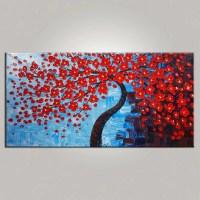 Abstract Art, Bedroom Wall Art, Tree Painting, Flower ...