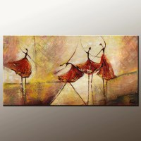 Living Room Wall Art, Abstract Painting, Ballet Dancer ...
