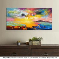 Wall Art, Contemporary Art, Abstract Landscape Art, Canvas ...