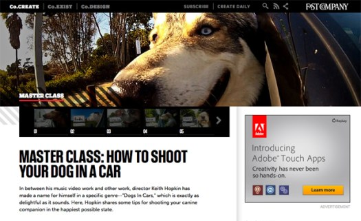 FastCompany Master Class: How To Shoot Your Dog In A Car featuring Keith Hopkin