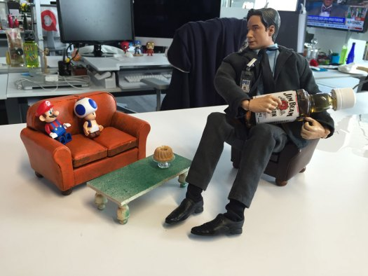 Fox Mulder on Couch