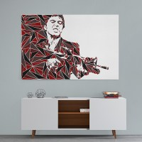 Scarface Abstract Wall Art Canvas Print