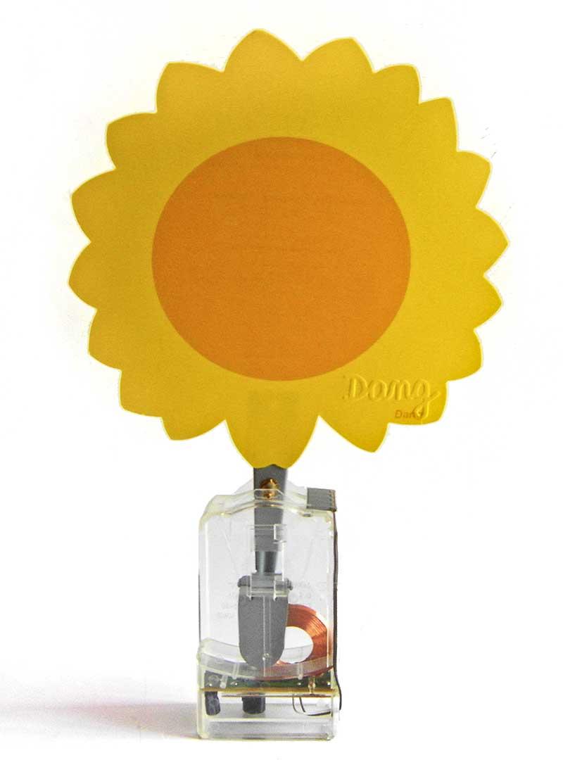 solar-powered dancing flower
