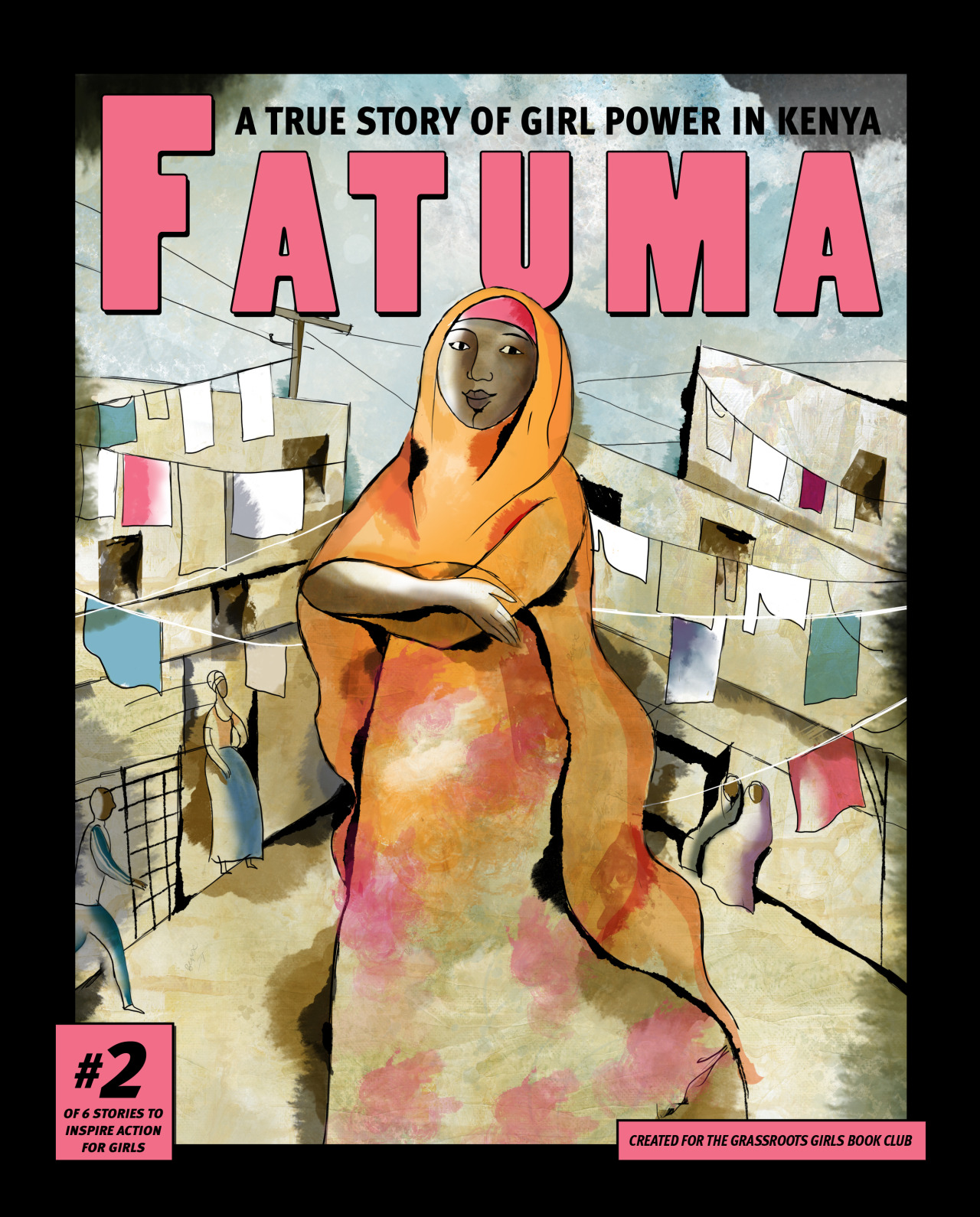 graphic novel cover with girl from Kenya