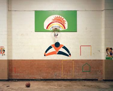 Basketball Hoop with Mural