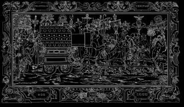 Nicolas Buffe - 2007 - Hypnerotomachies - Triomphe (Ink on panels)