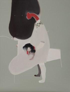 Guglielmo Castelli - Lei risplendeva di radiosa innocenza, mentre io emanavo colpa - olio su tela 35x25cm 2014