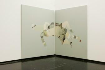 Guglielmo Castelli - MACRO - Roma ARTISTI IN RESIDENZA #5 EPARINA dittico 160 x 120 cm cad. olio su tela 2014