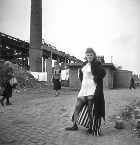 David Seymour - Prostitute near the Krupp works. Essen (1947)