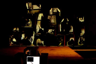 Built in_interactive videoinstallation_600x350x200 cm_2011_photography by Carlo Ottaviani