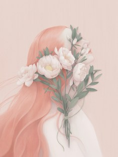 Orange, flora portrait - Hsiao-Ron Cheng