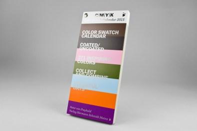 C | M | Y | K Color Swatch Calendar 2015