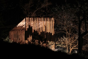 Padiglione, di notte - Operazione Arcevia - 2013