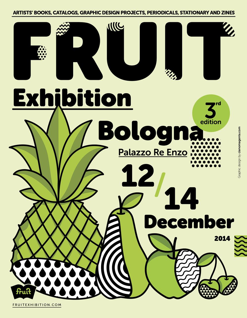 la terza edizione di Fruit Exhibition, l'evento interamente dedicato al graphic design e all'editoria creativa
