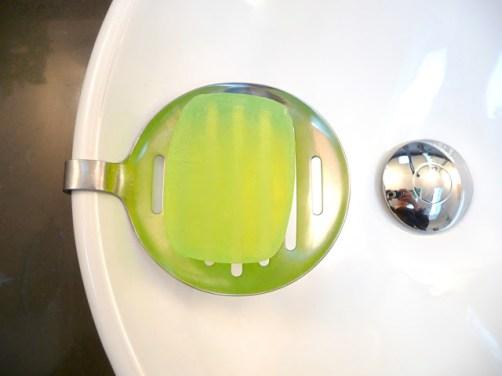 Skimmer soap dish