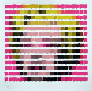 "Andy Warhol, ""Marilyn Monroe (Pink)"" / Nick Smith - Psycolourgy"