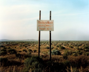W.Wenders, Western World Development, Near Four Corners, California, 1986