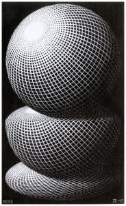 Maurits Cornelis Escher Tre sfere I / Three Spheres I, 1945