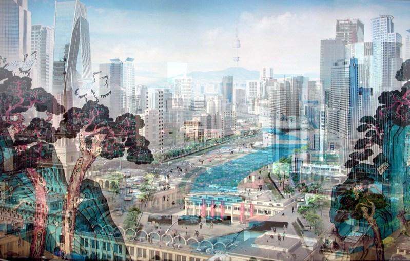 Davide Bramante -My own rave - Shanghai (Celestiale), 2007 Tecnica fotografica delle esposizioni multiple in fase di ripresa, montaggio su plexiglass, 130 x 180 cm collezione Enzo Bauso - Siracusa
