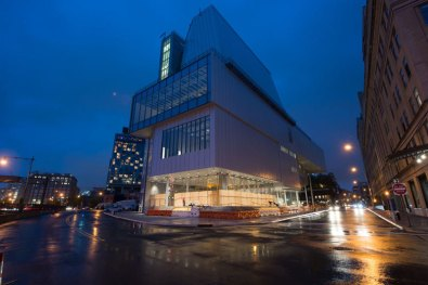 The new building in the evening, October 2014. Photograph by Timothy Schenck