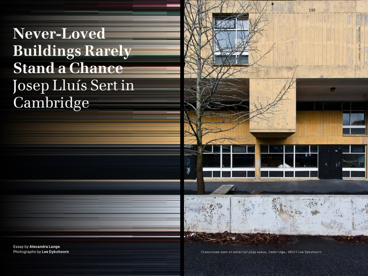 MAS Context Legacy spread. Never-Loved Buildings Rarely Stand a Chance essay by Alexandra Lange with photography by Lee Dykxhoorn © MAS Context