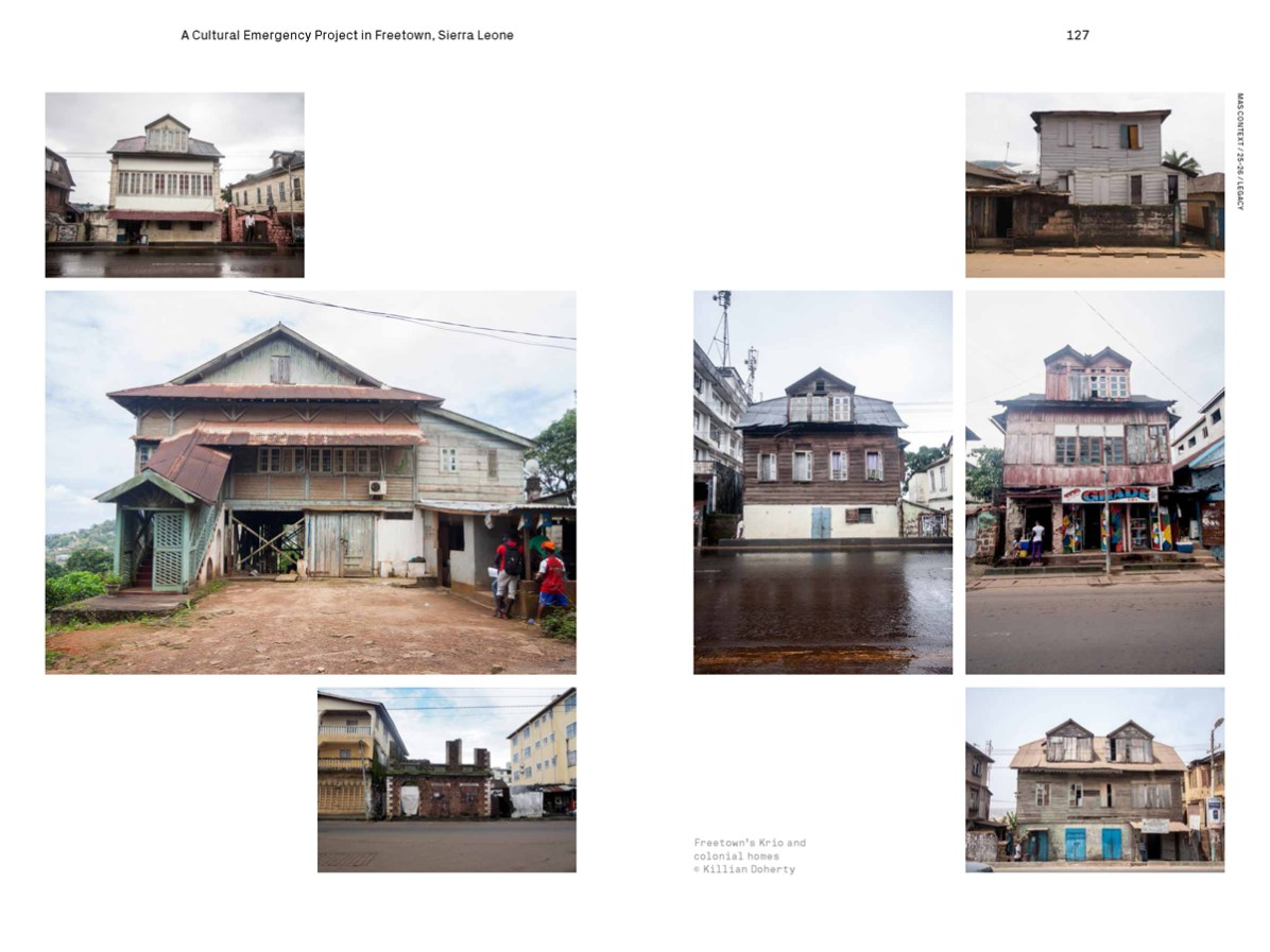 MAS Context Legacy spread. Journey with Maps: A Cultural Emergency Project in Freetown, Sierra Leone essay by Killian Doherty © MAS Context