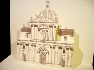 Card 3D Pop-up Kirigami |Duomo - Brescia