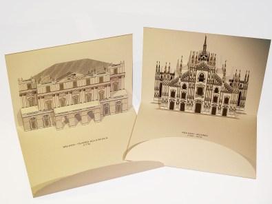Card 3D Pop-up Kirigami | Milano