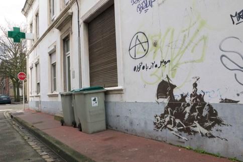 banksy calais Théodore Géricault