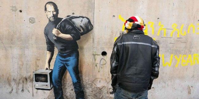 Banksy Calais Steve Jobs