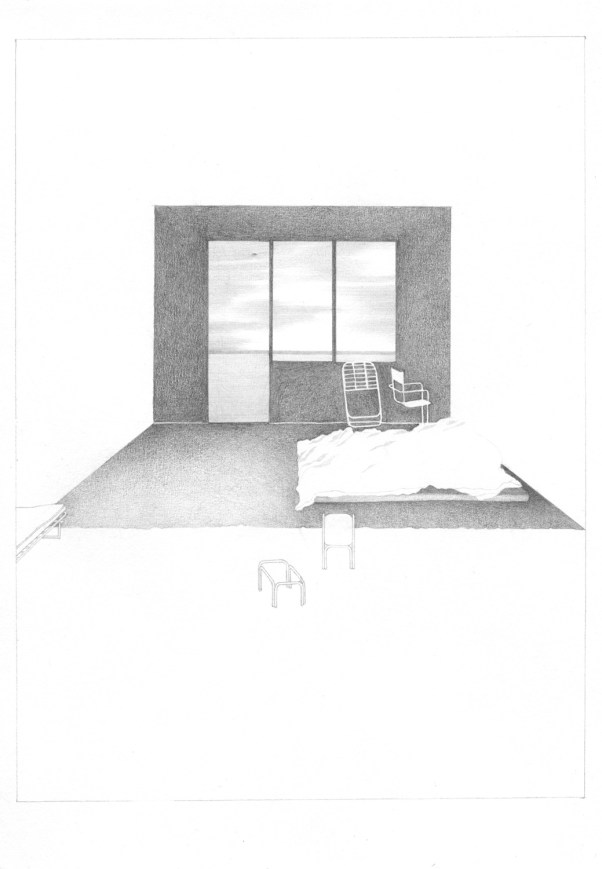 Author: Eva Le Roi (France) Title : Sunday Technique : Pencil on paper Dimensions : 21 x 29,7 cm